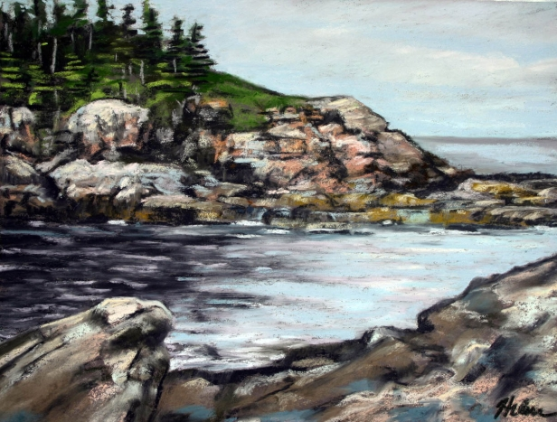 Acadia Cove, pastel artwork by Kauai artist Helen Turner