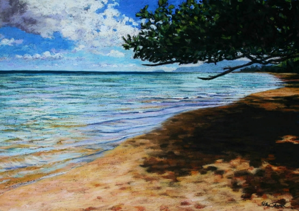 Anini Color, pastel artwork by Kauai artist Helen Turner