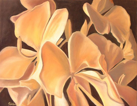 Awapuhi, pastel artwork by Kauai artist Helen Turner