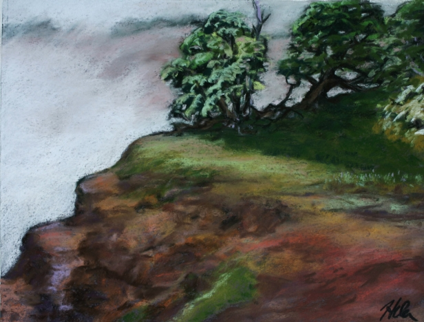 Canyon Clouds, pastel artwork by Kauai artist Helen Turner