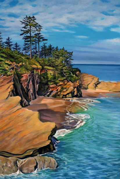 Central Coast Beauty, pastel artwork by Kauai artist Helen Turner