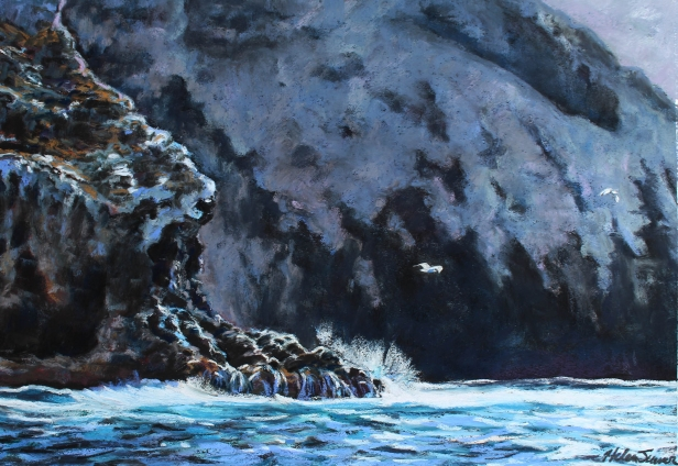 Cruising the Cliffs, Hawaiian artwork by Helen Turner