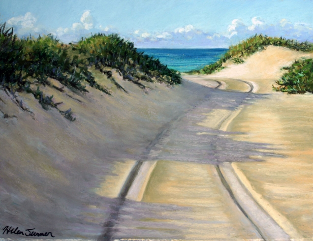 Dunes and Shadows, pastel artwork by Kauai artist Helen Turner