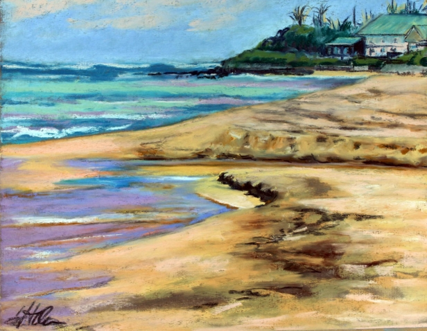 Fresh meets Salt, pastel artwork by Kauai artist Helen Turner