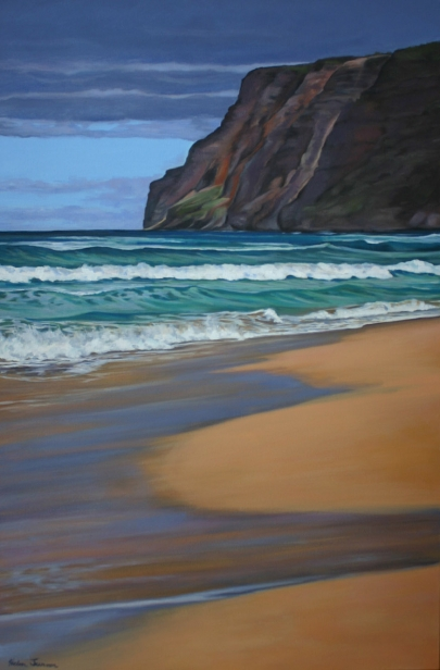 Geometry of a Summer Day, pastel artwork by Kauai artist Helen Turner