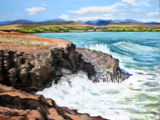 Hanapepe View, pastel artwork by Kauai artist Helen Turner