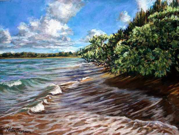 High Tide, pastel artwork by Kauai artist Helen Turner