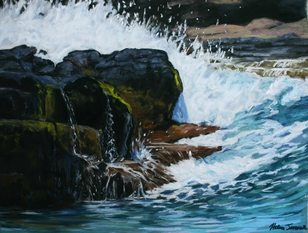 Incoming Tide, pastel artwork by Kauai artist Helen Turner
