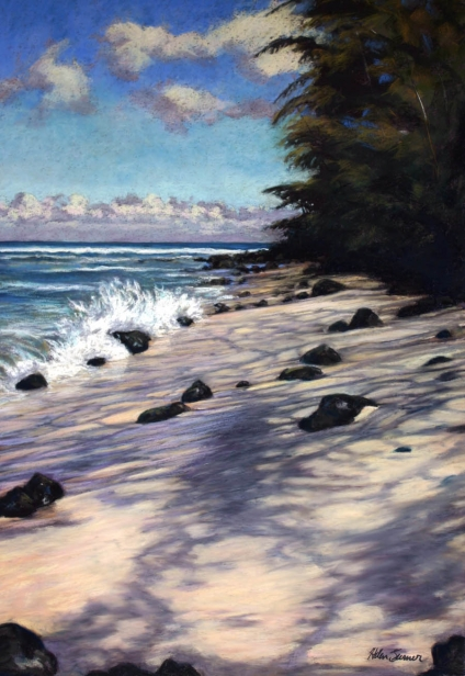 Kaona Days, pastel artwork by Kauai artist Helen Turner