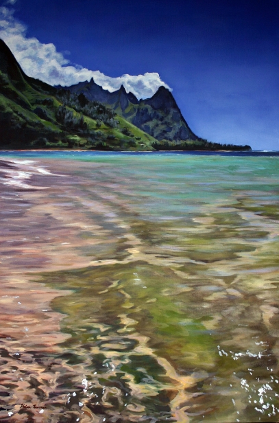 Makua Summer, pastel artwork by Kauai artist Helen Turner