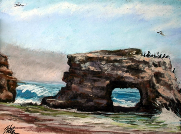 Natural Bridges, pastel artwork by Kauai artist Helen Turner
