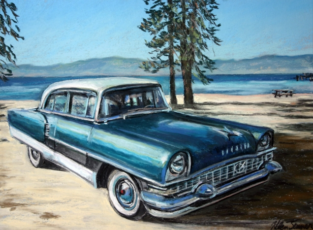 Packard at Tahoe, pastel artwork by Kauai artist Helen Turner