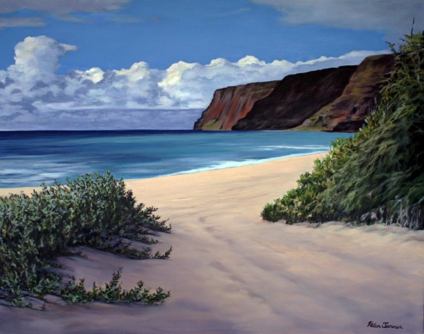 Polihale Days, pastel artwork by Kauai artist Helen Turner