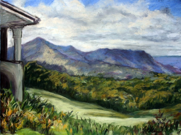 Princeville Clubhouse, pastel artwork by Kauai artist Helen Turner