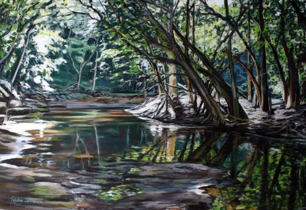 Quiet Place, pastel artwork by Kauai artist Helen Turner