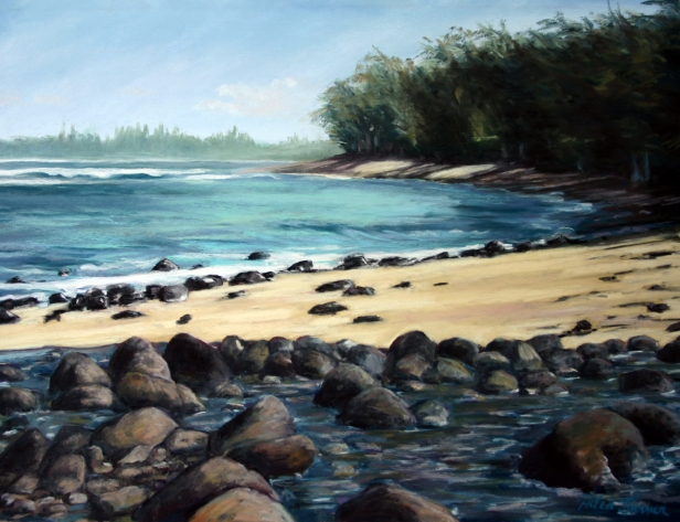 River's End, Haena, pastel artwork by Kauai artist Helen Turner