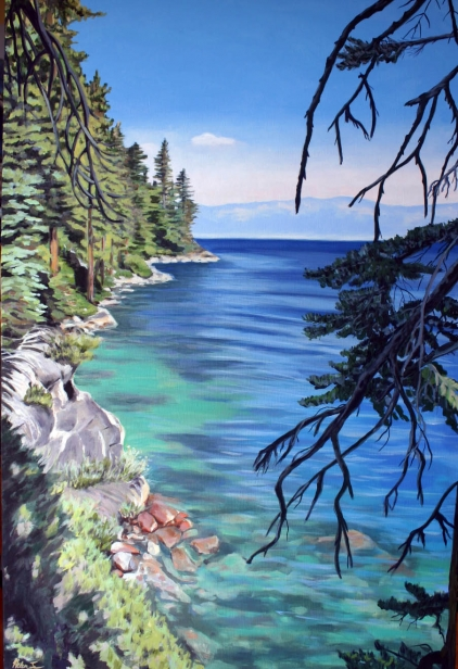 Rubicon Trail looking north, pastel artwork by Kauai artist Helen Turner
