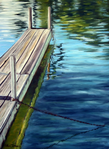 Short Pier, pastel artwork by Kauai artist Helen Turner