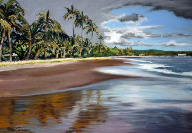 Storm Clouds, pastel artwork by Kauai artist Helen Turner