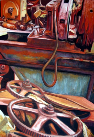 Study in Rust, pastel artwork by Kauai artist Helen Turner