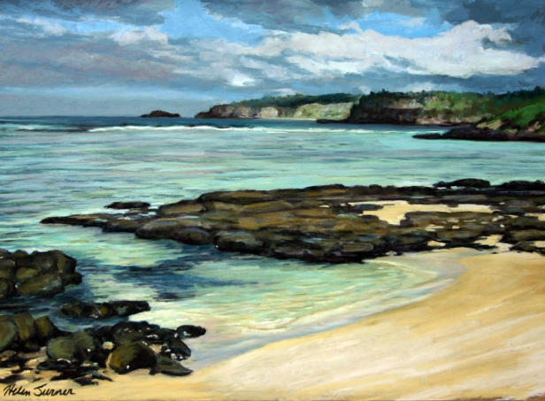 Sunny Cove, pastel artwork by Kauai artist Helen Turner