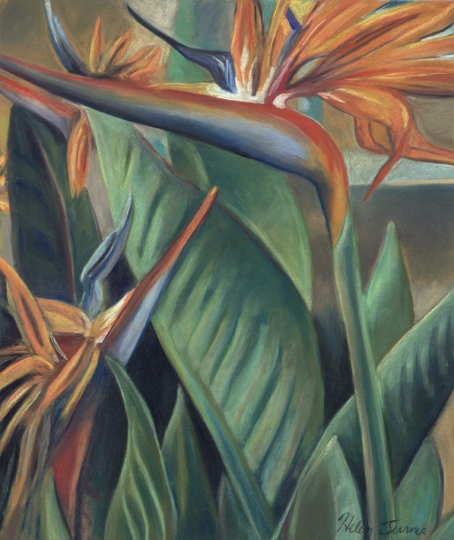 Two Birds, pastel artwork by Kauai artist Helen Turner