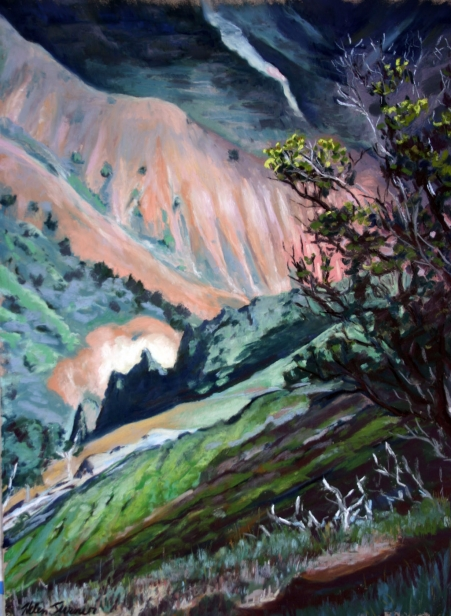 View from the Ohia Tree, pastel artwork by Kauai artist Helen Turner