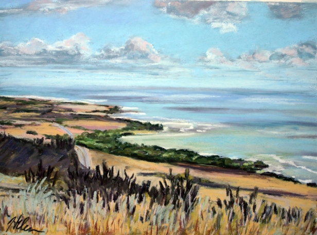 View from the big Mango, pastel artwork by Kauai artist Helen Turner