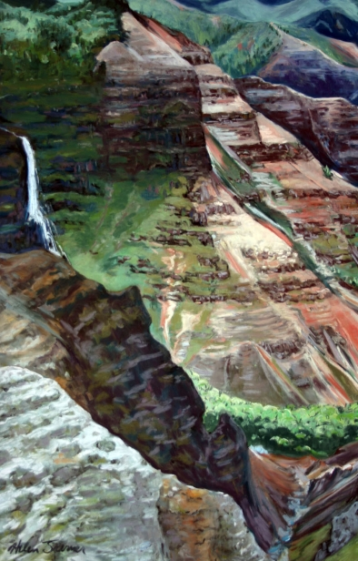 Waimea Canyon 2, pastel artwork by Kauai artist Helen Turner