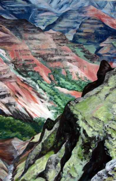 Waimea Canyon 3, pastel artwork by Kauai artist Helen Turner