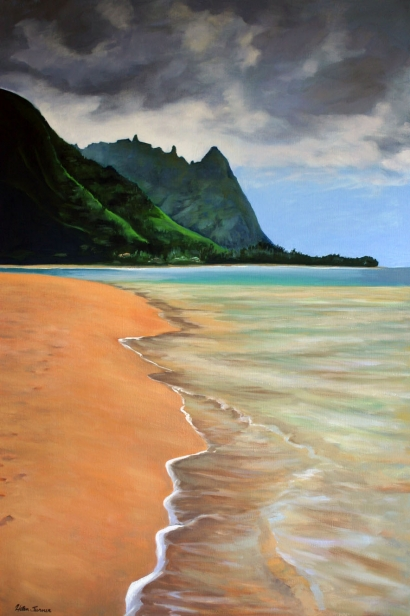 Walking Tunnels, pastel artwork by Kauai artist Helen Turner