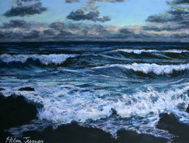 Water Studies, pastel artwork by Kauai artist Helen Turner