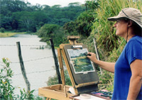 Helen Turner painting en plein air on Kauai